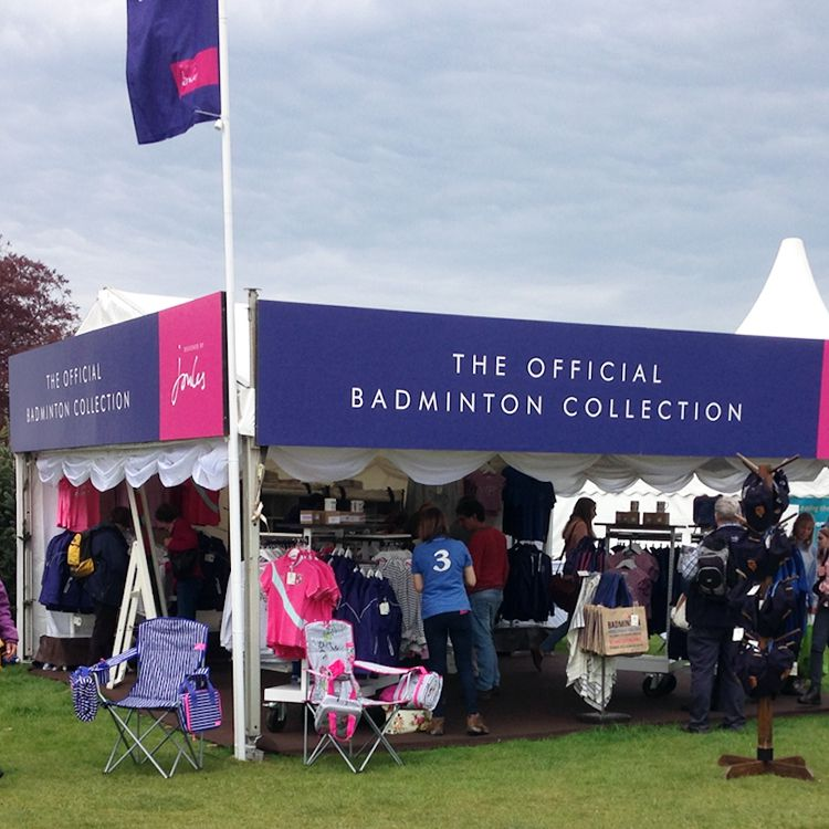 Trade Stands Badminton Horse Trials : A history of joules at badminton horse trials the