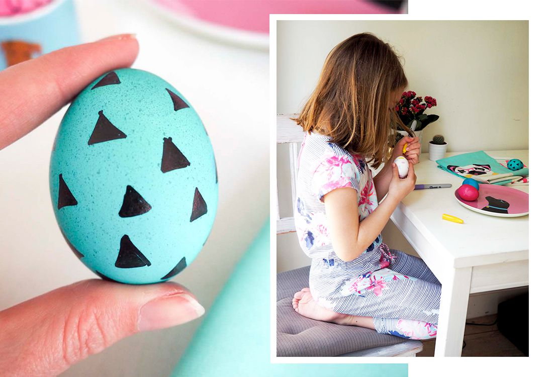 decorated bright eggs for easter
