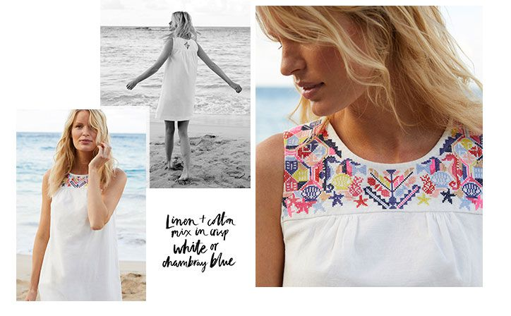 joules embroidered smock dress