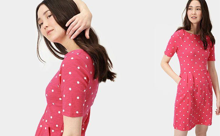 joules jersey spotty dress