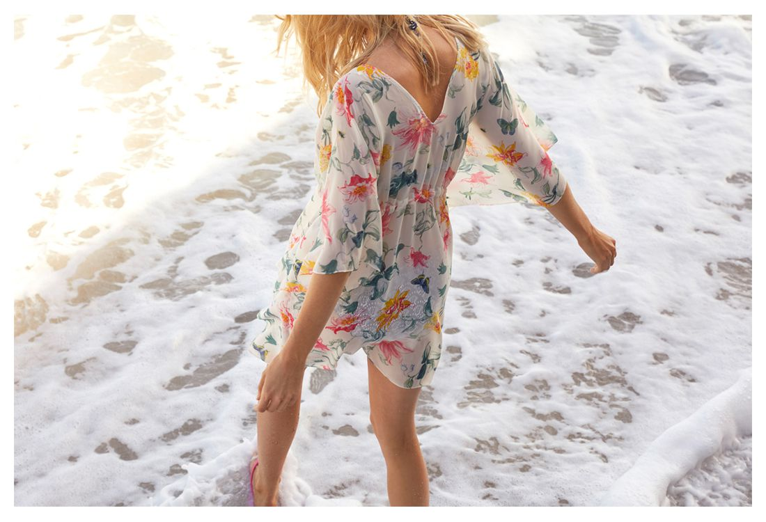joules floral cover up for the beach or the pool