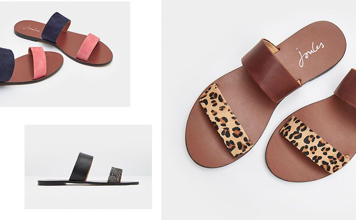 joules leather strapped summer sandals