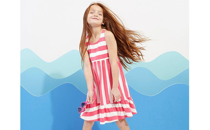 girls stripped dress for the summer wardrobe