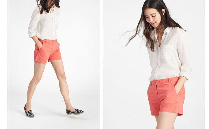 joules coral summer shorts
