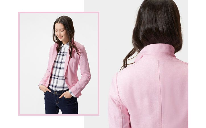 joules linen kira blazer perfect for layering this summer