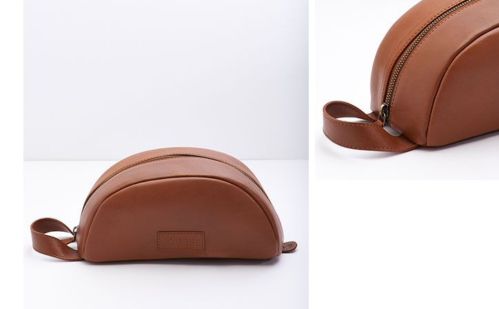 Leather wash bag, perfect gift for Father's Day
