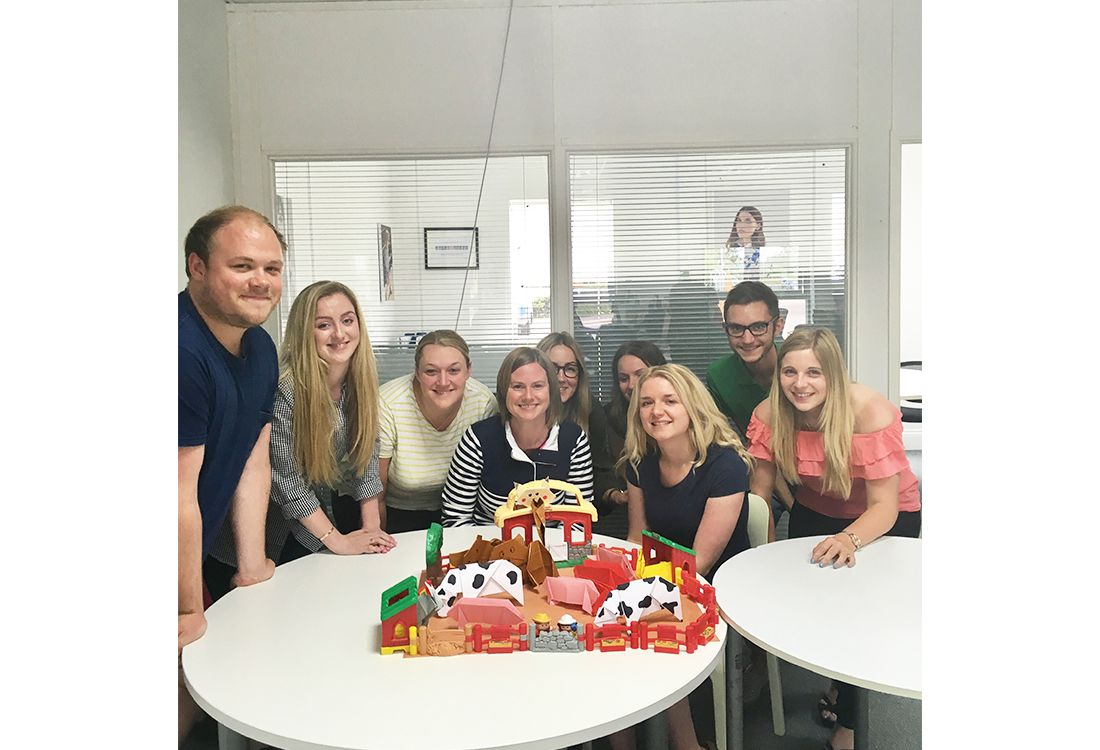 joules e-commerce team have a go at Joules origami animals