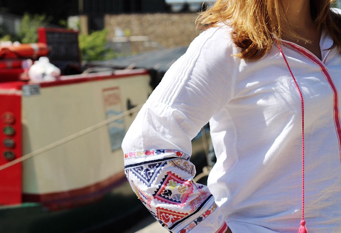 City Style Summer dressing for the entire family - Joules embroidered peasant top perfect for the summer
