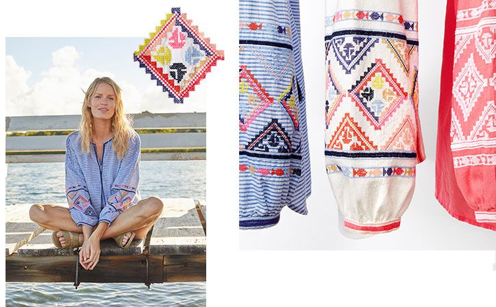 Joules embroidered yolanda top perfect for the beach and summer festivals