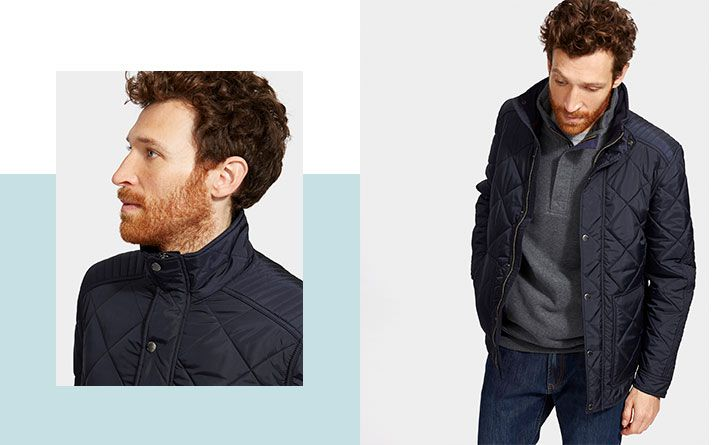 This shorter length quilted jacket is a timeless piece that will suit almost any man.