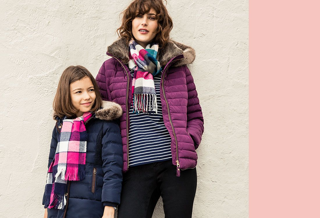 Joules School Run Proof styling with men's and women's wet weather coats and jackets