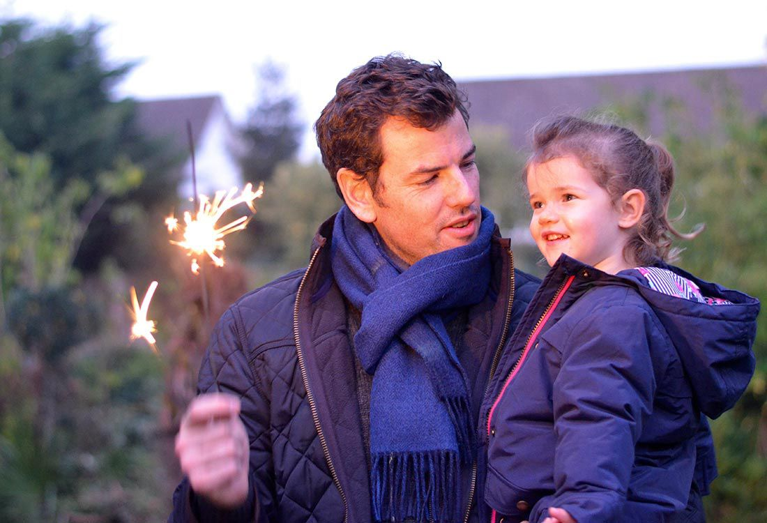 Little ones see the magic in the everyday. Sophie is always pointing out what she spots as we drive along, finding laughter and delight in details I would otherwise look past. So the excitement in bonfire night is really special. Sophie said I was like a fairy with a magic wand when I lit the sparklers and she was captivated looking into the fire with her daddy - I can't wait for her to experience the 'real' event.