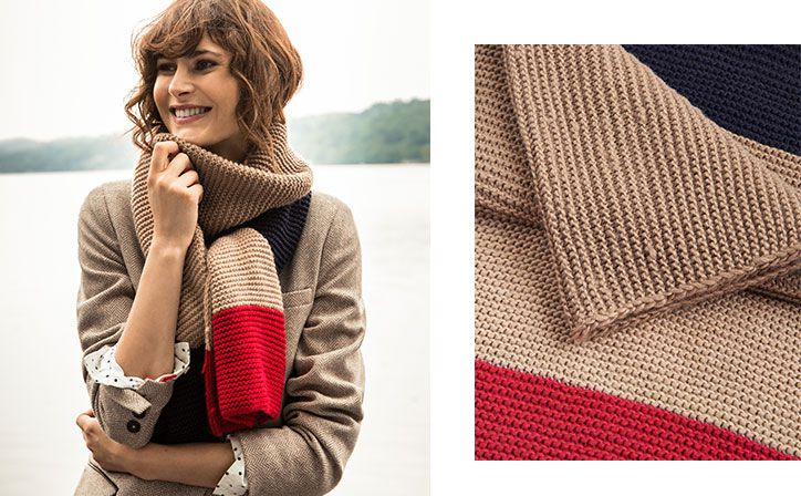 What better accessory than the humble scarf to add warmth and colour to any look?