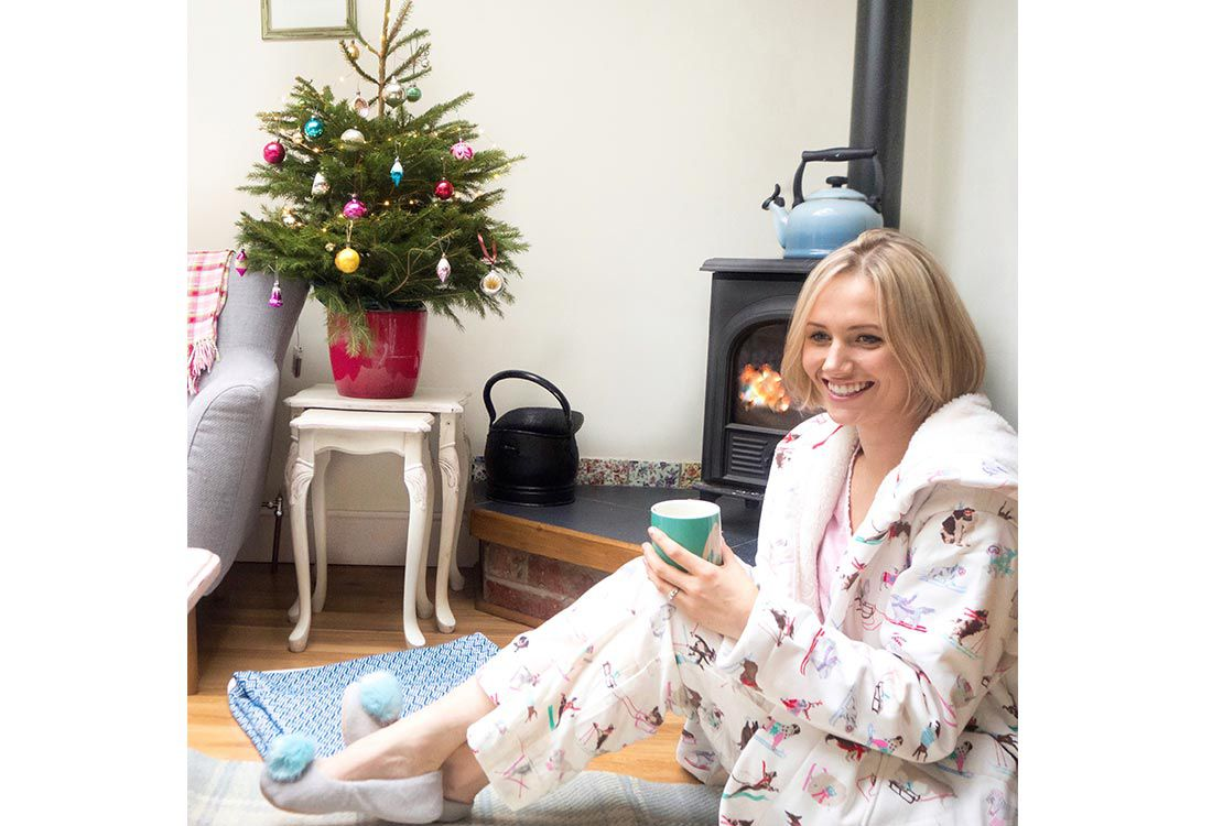 Family and Lifestyle blogger shares how her and her family spend a festive sunday morning in their Joules nightwear