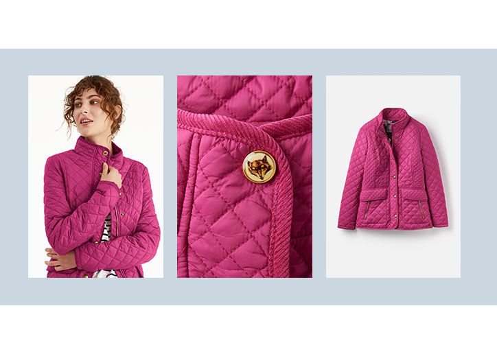 Joules women's pink quilted jacket