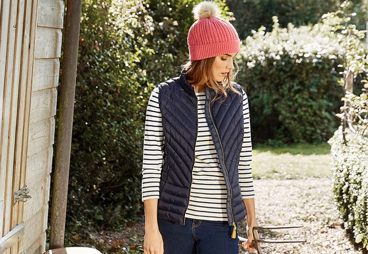 Joules brindley women's gilet from the outerwear collection
