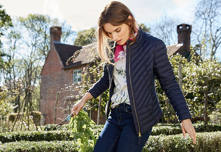 Joules elodie quilted jacket from the women's outerwear collection