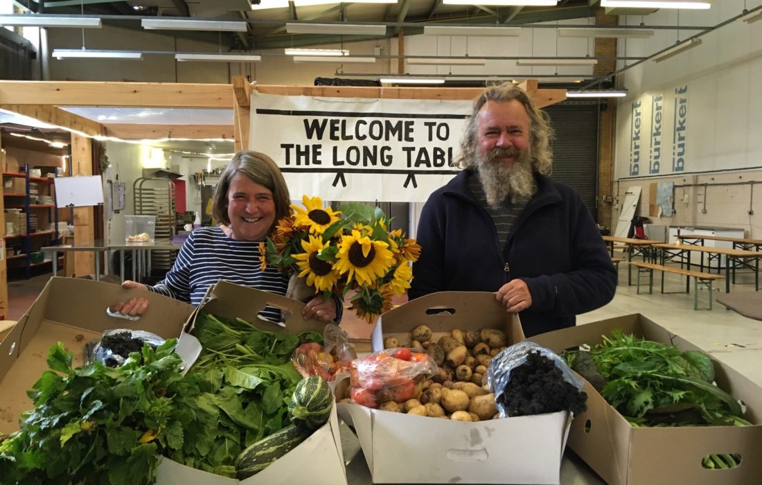 Produce delivery to The Long Table 2020