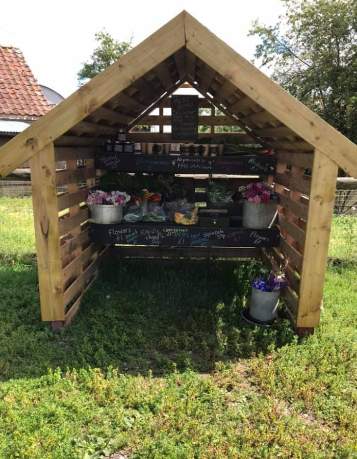 Wick Court produce shack