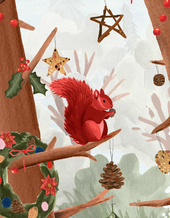 animation Red squirrel