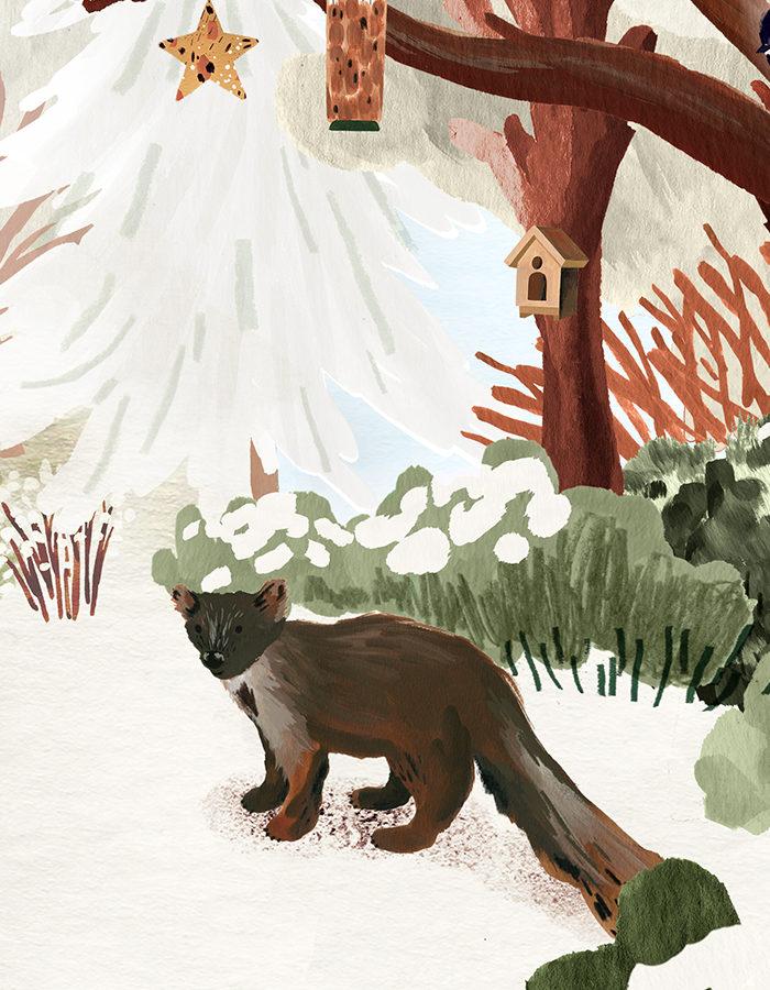 animation pine marten